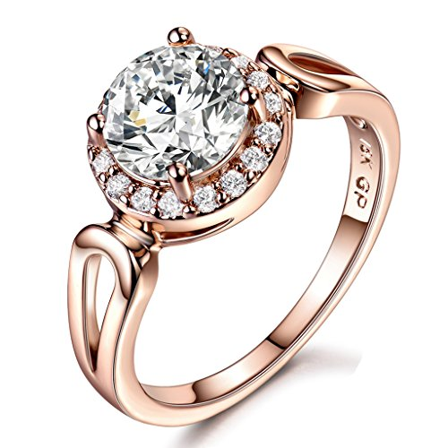 GULICX Jewelry Rose Gold Round Gorgeous