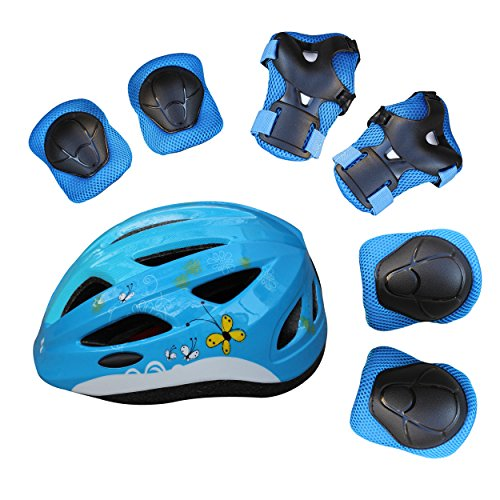 Image of the Children Helmet Safety Protection for Cycling, Biking, Skateboarding, Scooter, In lines - Unisex Adjustable Size for Toddlers XXS(2-3yrs), XS(4-5yrs)),S(6-10yrs) (Blue Butterfly, XS)