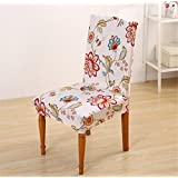 Super Fit Stretch Removable Washable Short Dining Chair Cover Protector Seat Slipcover for Hotel,Dining Room,Ceremony,etc.