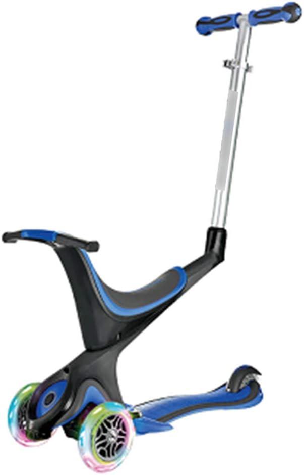 スケートボード キックスクーター適切な5-in-1の子供のスクーターは2-14歳の子供のための座っている/取り外し可能なスクーターができます スケートボード (Color : 青) 青
