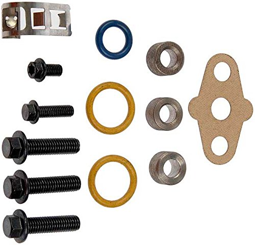 APDTY 015345 Turbo Mounting Gasket O-ring Bolt Hardware Kit Fits 2003-2010 Ford Trucks With 6.0L Diesel Engine 2003-2010 International Trucks w//6.0L Turbo Diesel Replaces Ford 3C3Z-9T514-AD, Navistar 1840053C96