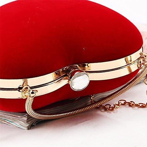 Abendtasche Herzform Umhängetasche Abend Clutch Handtasche Sling Bag Handtasche Braut Hochzeit Tasche mit Kettenriemen Für Hochzeitsfeier