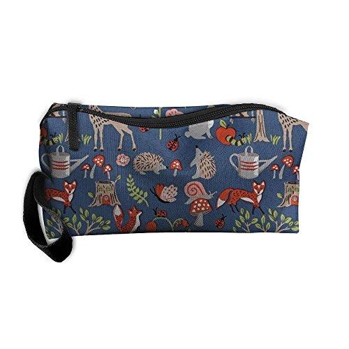 erproof Travel Bag Poplin Cottage Garden Home Makeup Toiletry Cosmetic Pencil Medicine Bag (Poplin Oxfords)