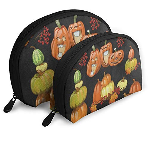 Pouch Zipper Toiletry Organizer Travel Makeup Clutch Bag Halloween Holiday Party Pumpkin Portable Bags Clutch Pouch Storage Bags -