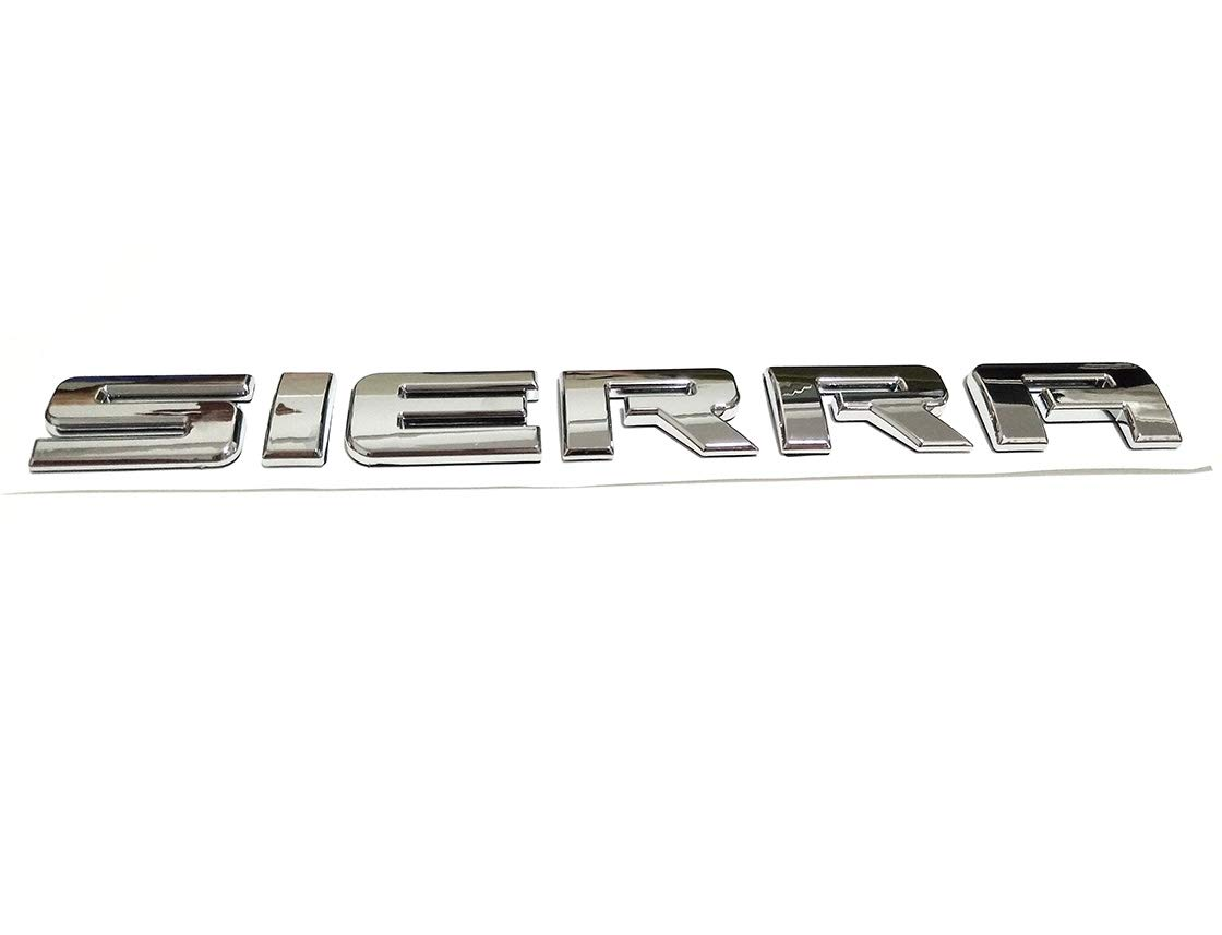 Yuauto Sierra Nameplates Letter Emblem Badge Glossy Replacement for Chevrolet Gm 2500HD 3500HD Sierra