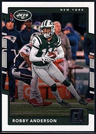 4670ebd3811 Amazon.com  Football NFL 2017 Donruss  71 Robby Anderson  71 NM+ NY ...