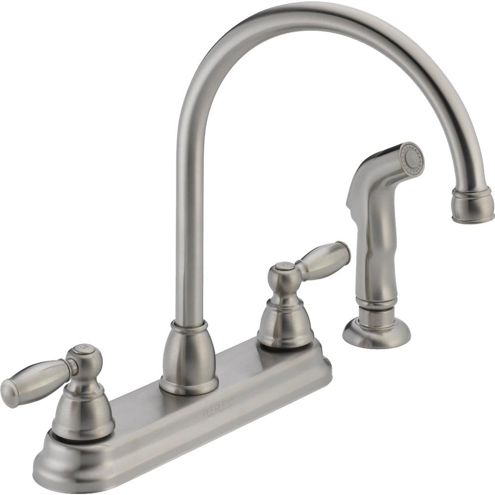 Peerless P299575lf W Two Handle Kitchen Faucet Chrome Touch On