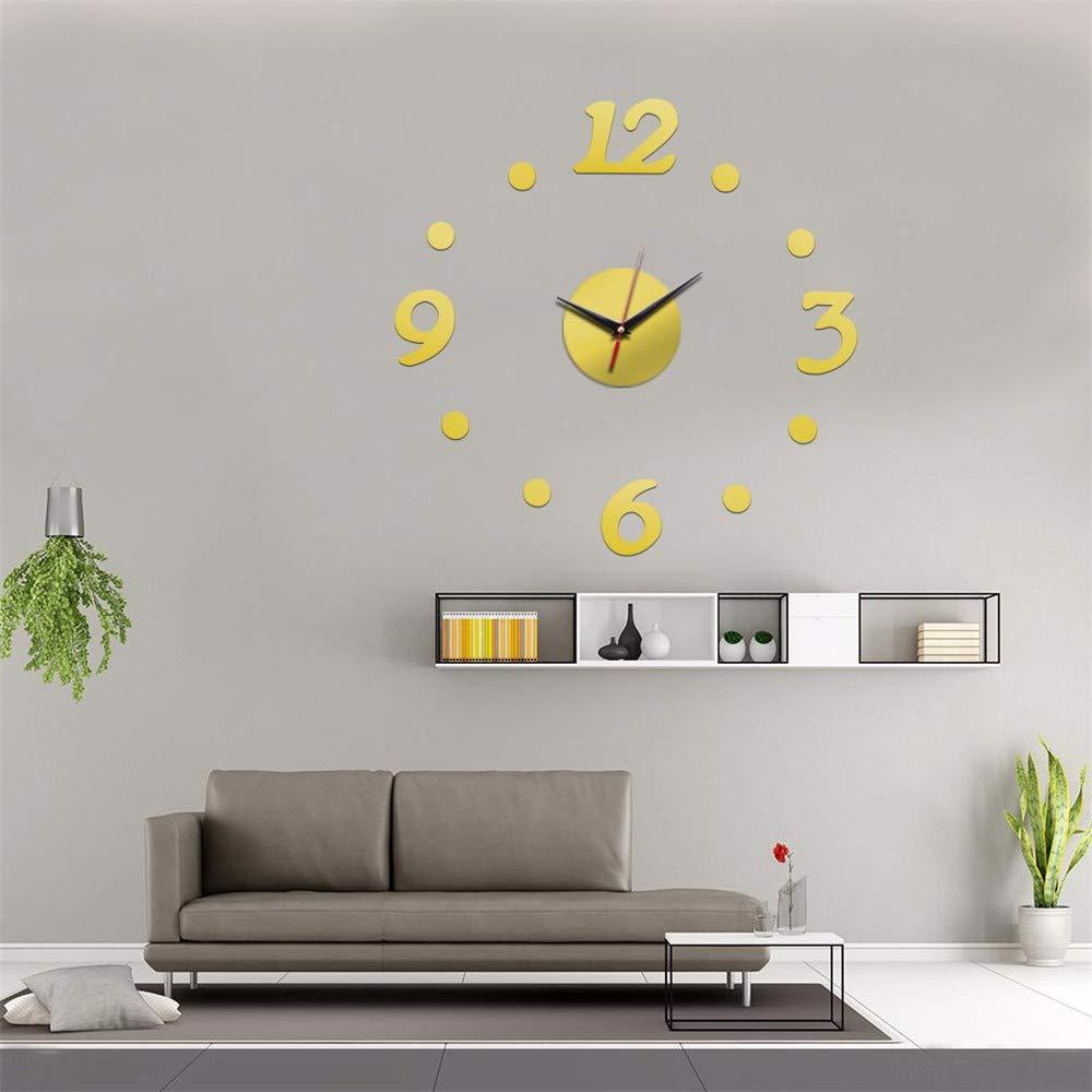 HomeClock Reloj Digital de Lunares Silencio Moda casa Reloj Acrílico Creativo DIY Reloj: Amazon.es: Hogar