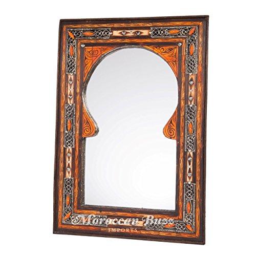 Moroccan Keyhole Arch Inlaid Mirror