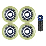 Explore Inline Skate Wheel 80mm 85a Set of Four With Bearings
