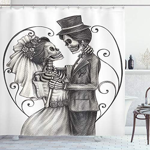 Day Of The Dead Shower Curtain - Ambesonne Day of The Dead Shower