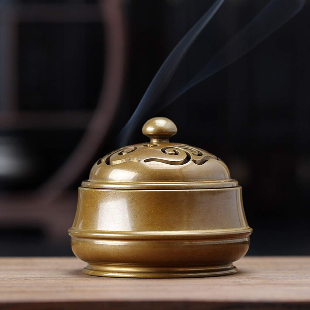 Maijisan Pure Copper Incense Burner Home Ceremony Buddha Enshrined Incense Burner Indoor Tea Ceremony Living Room Aromatherapy Furnace Decoration by Maijisan (Image #4)