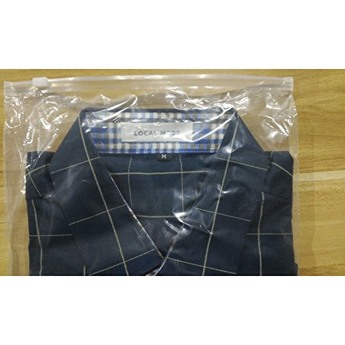 LOCALMODE 100% Long Sleeve Slim Fit Button Shirt,Navy