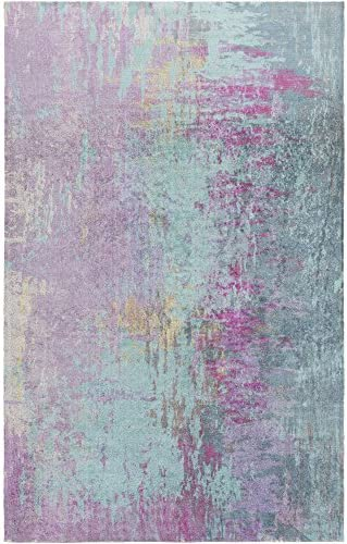 Violetta Blue and Purple Modern Area Rug 2 x 3