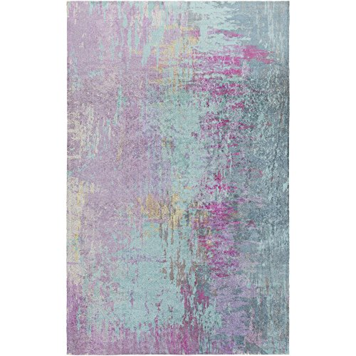 Violetta Blue and Purple Modern Area Rug 4 x 6