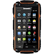Hipipooo-Discovery V8 Waterproof Dustproof Shakeproof Smartphone Rugged Android 4.4 3G Unlocked Mobile Phone 4.0 inch Mtk6572 Dual-Core,Dual SIM Card Slot(Orange)