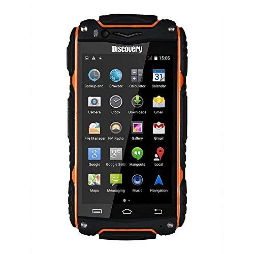 Hipipooo-Discovery V8 Waterproof Dustproof Shakeproof Smartphone Rugged Android 4.4 3G Unlocked Mobile Phone 4.0 inch Mtk6572 Dual-Core,Dual SIM Card Slot(Orange)