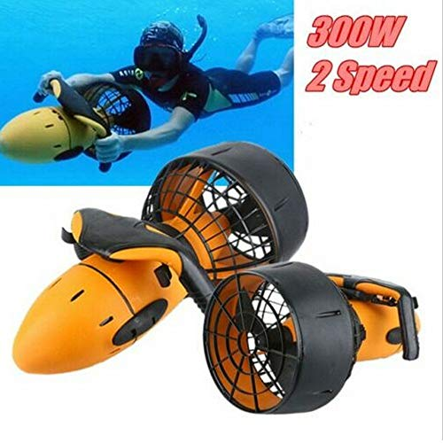 (Changli Under Water Scuba Sea Scooter,Waterproof 300W Electric Sea Scooter Dual Speed Underwater Propeller Diving Pool Scooter Water Sports)