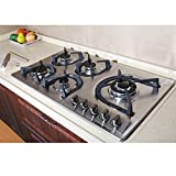 Brand New 34 inch Stainless Steel Built-in Kitchen 5 Burner Stove Gas Hob Cooktop Cooker