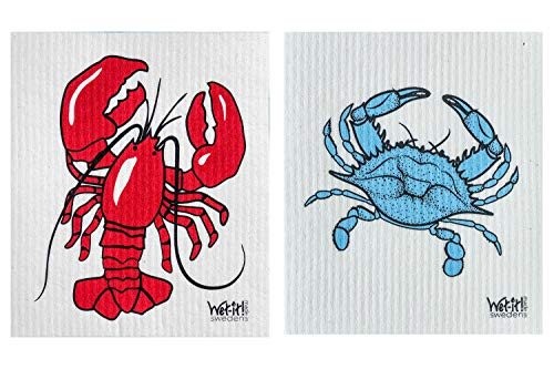 Wet-It! Swedish Dishcloth Set of 2 (Lobster and ()