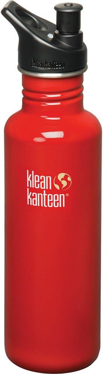 Klean Kanteen Botella de Acero Inoxidable con 3.0Deporte Cap