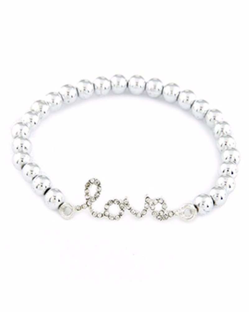 Young & Forever Women's Love Strand Bracelet Silver Toned