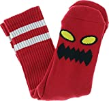 Toy Machine Monster Face Socks-Red - Single Pair