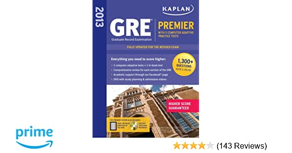 kaplan 2013 gre premier with 5 online practice tests dvd kaplan 9781609781002 amazoncom books