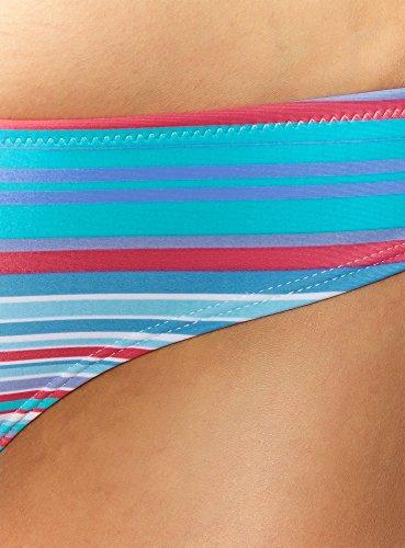 oodji Ultra Mujer Bragas Bikini a Rayas Turquesa (7347S)