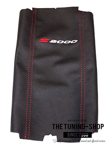 FOR HONDA S2000 2001-03 ARMREST COVER BLACK LEATHER RED