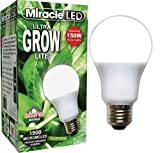 Miracle LED 605038 12Watt (150Watt) Commercial Hydroponic Ultra Grow Lite Bulb, 990 Lumens, BR30 Full Spectrum Plant Growing Light Bulb