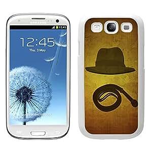 Funda carcasa para Samsung Galaxy S3 diseño sobrero y látigo borde blanco