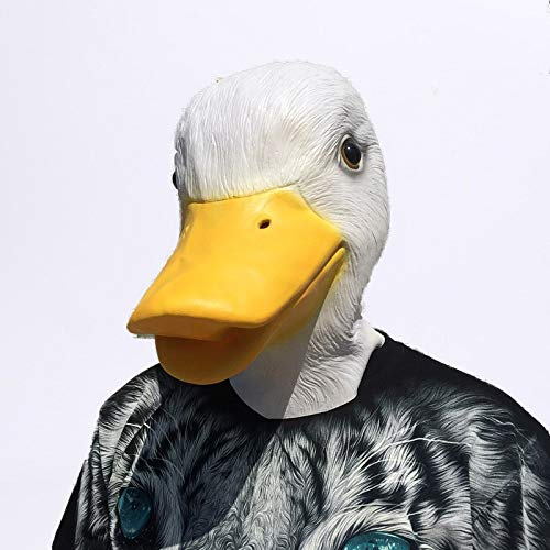 SaveStore Cute Animal Duck Mask Novelty Latex Rubber