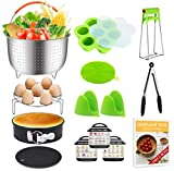 13 PCS Instant Pot Accessories Fits 6, 8 Qt InstaPot, Ninja Foodi, Other Pressure Cookers, with Steamer Basket, Springform Pan, Egg Bites Mold and More