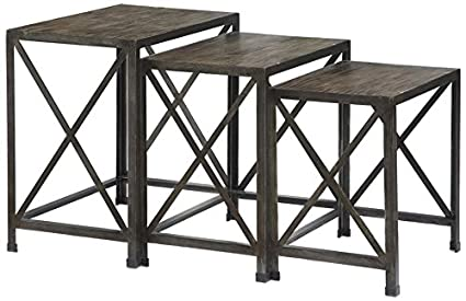 Nice Ashley Furniture Signature Design   Vennilux Nesting End Tables   3 Piece  Table Set   Gray