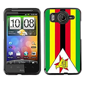 - Flag - - Monedero pared Design Premium cuero del tirš®n magnšŠtico delgado del caso de la cubierta pata de ca FOR HTC Desire G10 A9191 Funny House