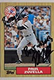 Paul Zuvella 86-87 New York Yankees Autographed 1987 Topps #102 Card 17C