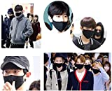 Made in Korea Unisex Kpop Mask 3D Black Cotton Face