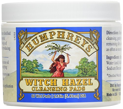 Hazel Homeopathic Witch Remedies (Humphrey's Homeopathic Remedy Witch Hazel Cleansing Pads - 60 Ct, Pack of 2)