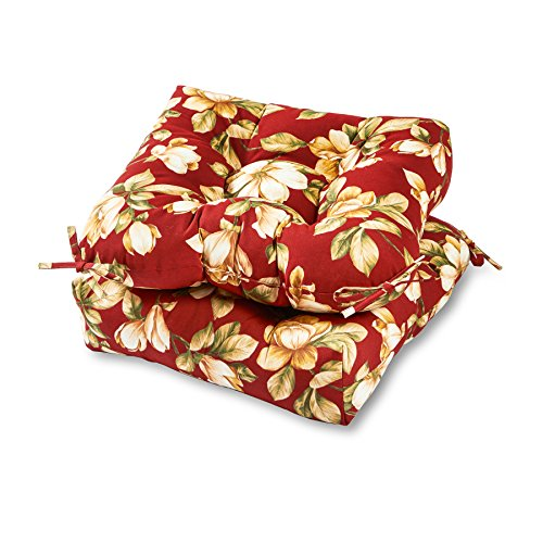 (Greendale Home Fashions 20-inch Outdoor Chair Cushion (set of 2), Roma Floral )