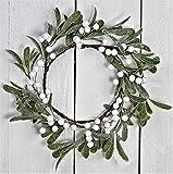 JMB 12inFrostedMistletoeChristmas Wreath