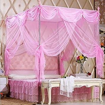 ZYT Palacio piso de acero inoxidable mosquiteras princesa estilo montaje de soporte