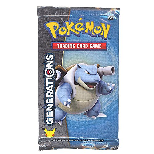Generations Booster (Pokemon Cards - Generations - Booster Pack (Blastoise Cover Art - 10 Cards))