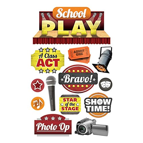 Paper House Productions STDM-0258E 3D Cardstock Stickers, School Play (3-Pack)