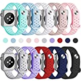 KOLEK Sport Bands 42mm Compatible with Apple Watch, Soft Silicone Band Women/Men Compatible Apple Watch Series 3/2/1, 10 Pack