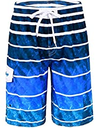 "Men's Swim Trunks 22"" Quick Dry Beach Shorts Boardshorts with Mesh Lining"