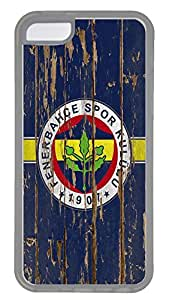 iPhone 5C Case,Logo Series Customize Ultra Slim Weathered Wood Blue Soccer Fenerbahce 7 Hard Plastic PC Clear Case Bumper Cover for iPhone 5C