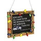 FOCO Seattle Seahawks Resin Chalkboard Sign Ornament