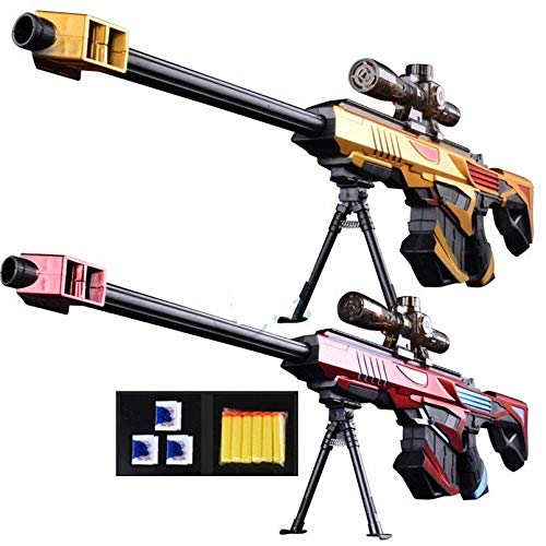 Plastic Infrared Water Bullet Gun Toy for Sniper Rifle Pistol Soft Paintball Toy (Gold)