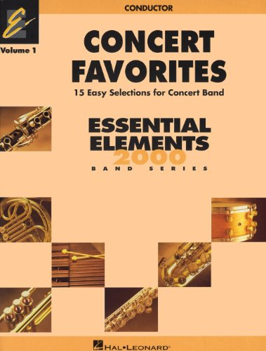 Hal Leonard Concert Favorites Vol1 Bb Clarinet (Leonard Hal Clarinet Marching)